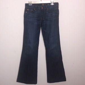 7FAM | dojo Flare Leg Jeans Dark Wash